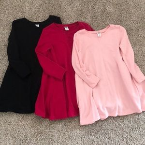 Three old navy long sleeve dresses